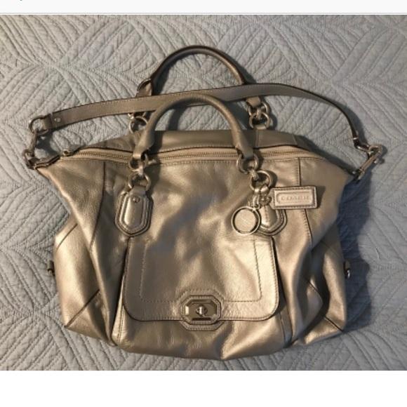 Coach Handbags - Silver coach bag